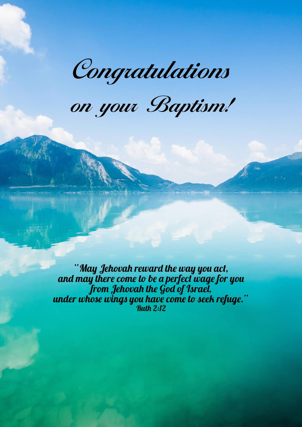 What to write in a baptism card jw cardjdi greeting cards baptism jehovah s witness theocratic ministry m4hsunfo