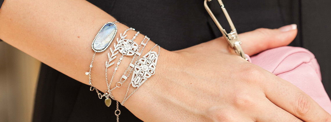 Stackable bracelets are a fun way to change your wardrobe.