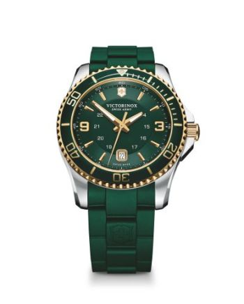Green Victorinox watch from Bennion Jewelers