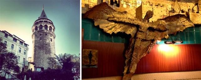 Galata Kulesi Hezarfen Çelebi