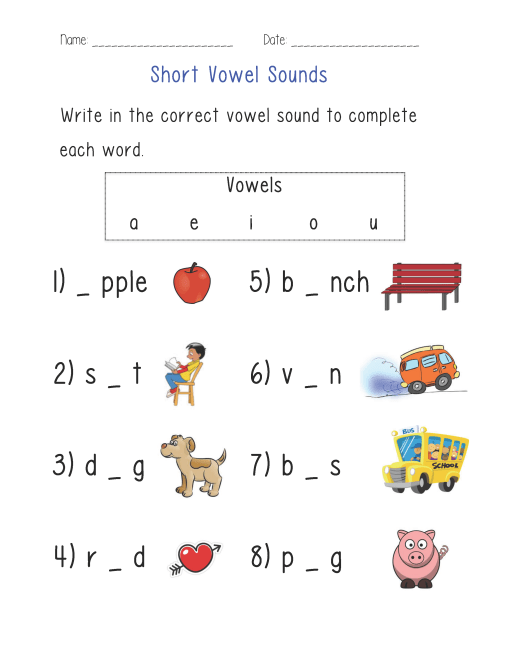 Short-Vowel-Sounds-Worksheet