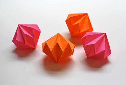 diamond origami-paper-gems
