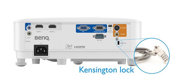 kensington-lock-mh550 BENQ MX550 PROJECTOR