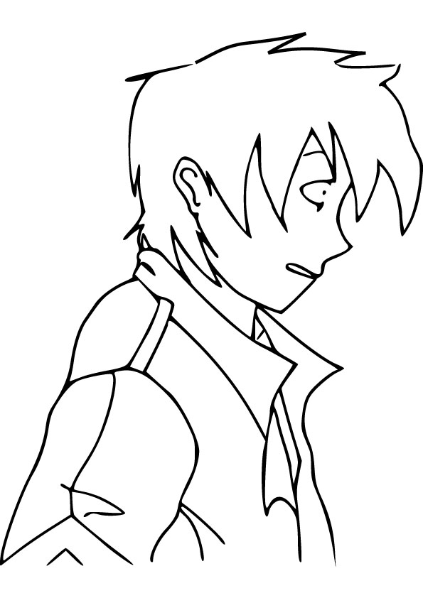 anime boy drawing picture