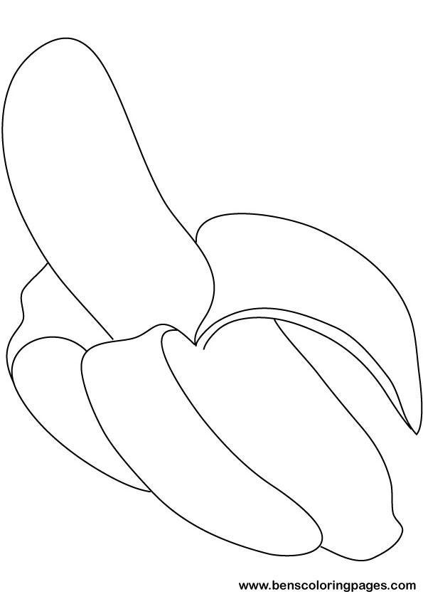 banana coloring pages printable