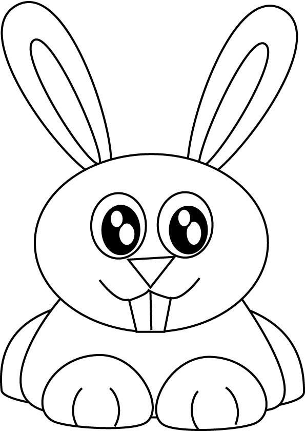 bunny rabbit coloring picture