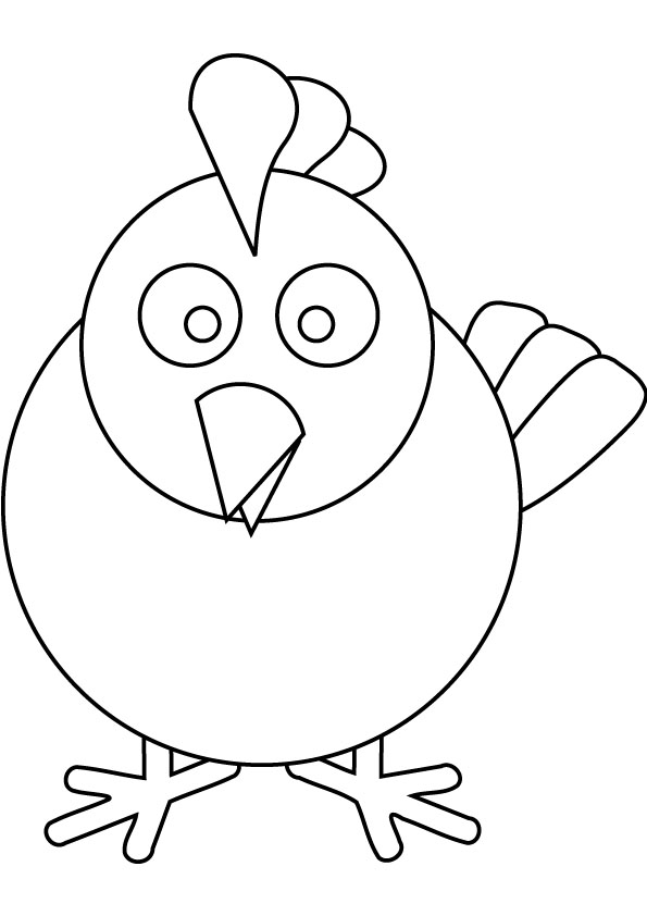 chicken coloring pages cooloring com