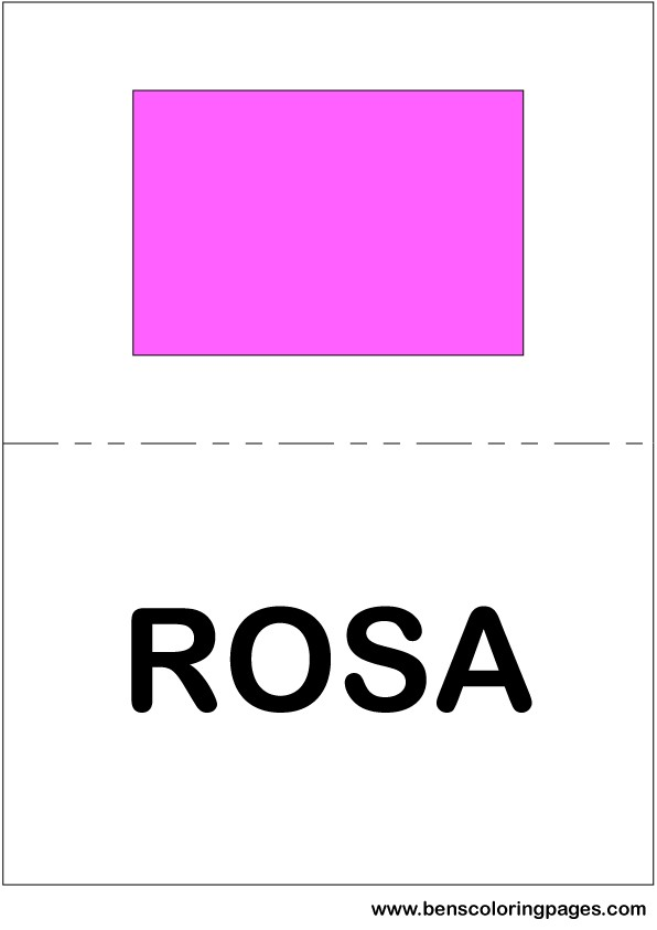 Colors In Spanish Large Flashcards