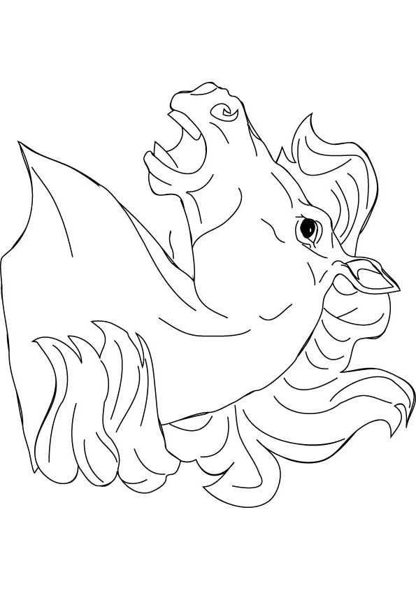 download free horse head coloring page