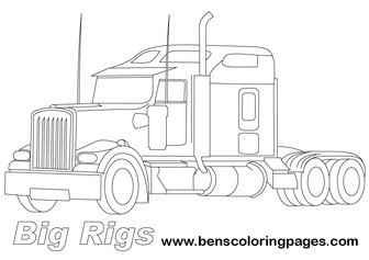 1000 images about coloring pages trucks on pinterest big rig