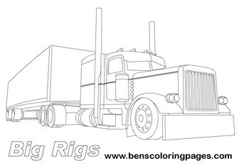 big truck coloring pages # 40