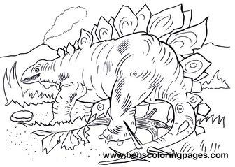 stegosaurus coloring page # 12