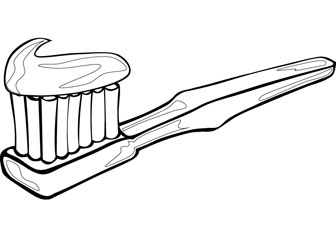 baby toothbrush colouring pages