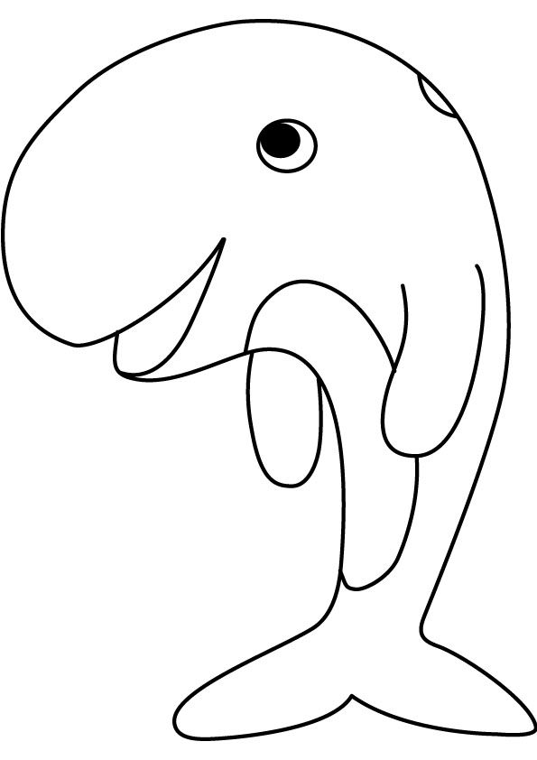 whale coloring pages kids