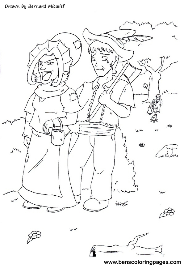 hansel and gretel sheets coloring pages