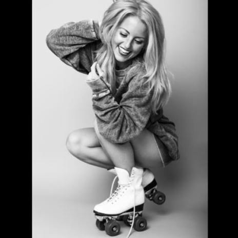 Commercial Model on roller skates