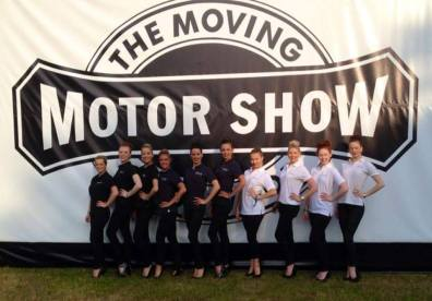 Event staff promo girls at The Moving Motor Show