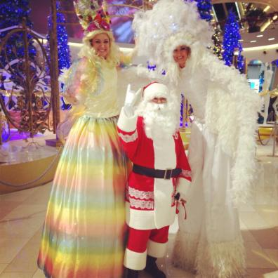 Stilt Walkers Christmas themed entertainment