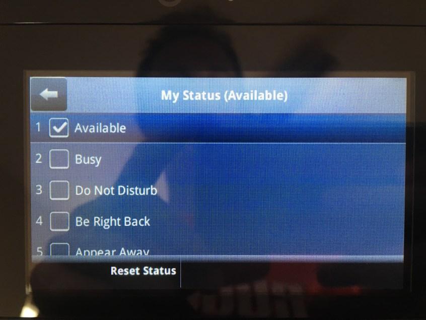 Setting Skype for Business Status