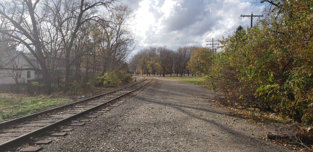 The railroad tracks near my house.