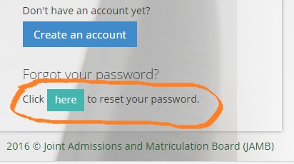 Jamb Profile Change Password