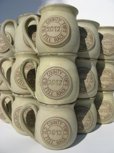 Named mugs at Bentham Pottery.