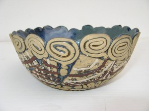 Press moulded bowl made by student