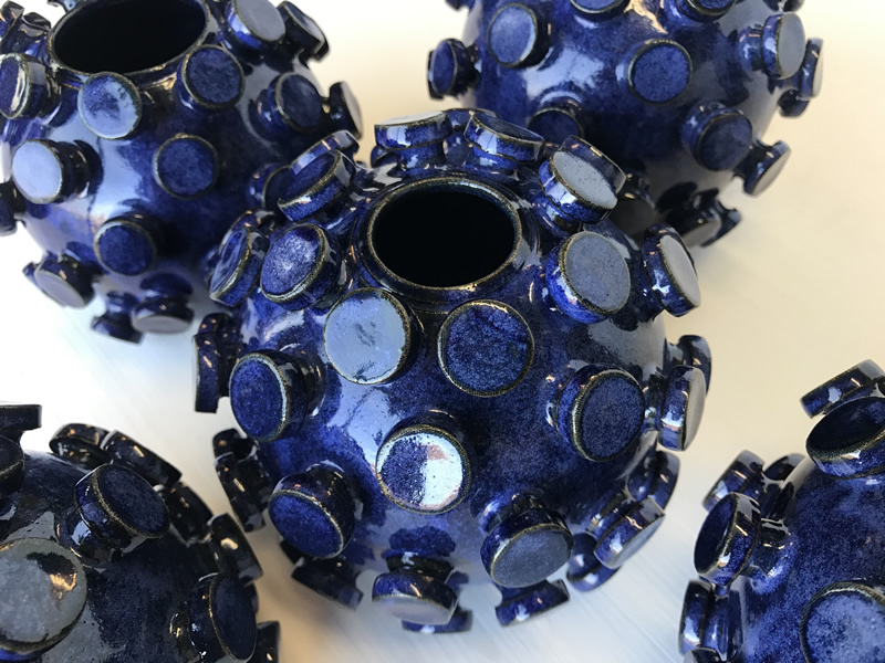Covid-19 vase. Coronavirus vase