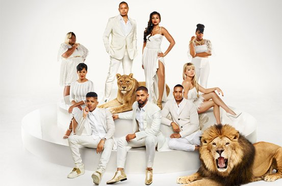 EMPIRE: Cast Pictured L-R: (Bottom Row) Bryshere Gray as Hakeem Lyon, Jussie Smollett as Jamal Lyon, Trai Byers as Andre Lyon (Middle Row) Grace Gealey as Anika, Kaitlin Doubleday as Rhonda Lyon (Back Row) Gabourey Sidibe as Becky, Terrence Howard as Lucious Lyon, Taraji P. Henson as Cookie Lyon and Ta'Rhonda Jones as Porsha on EMPIRE Season 2 premiering Wednesday, September 23 (9:00-10:00 PM ET/PT) on FOX. ©2015 Fox Broadcasting Co. Cr: James Dimmock/FOX.