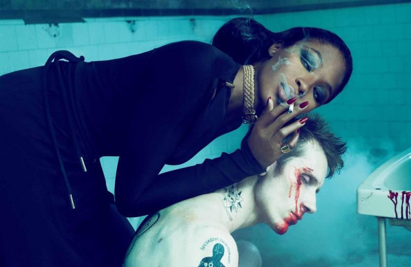 Supermodel Naomi Campbell in a publicity shot for American Horror Story: Hotel.