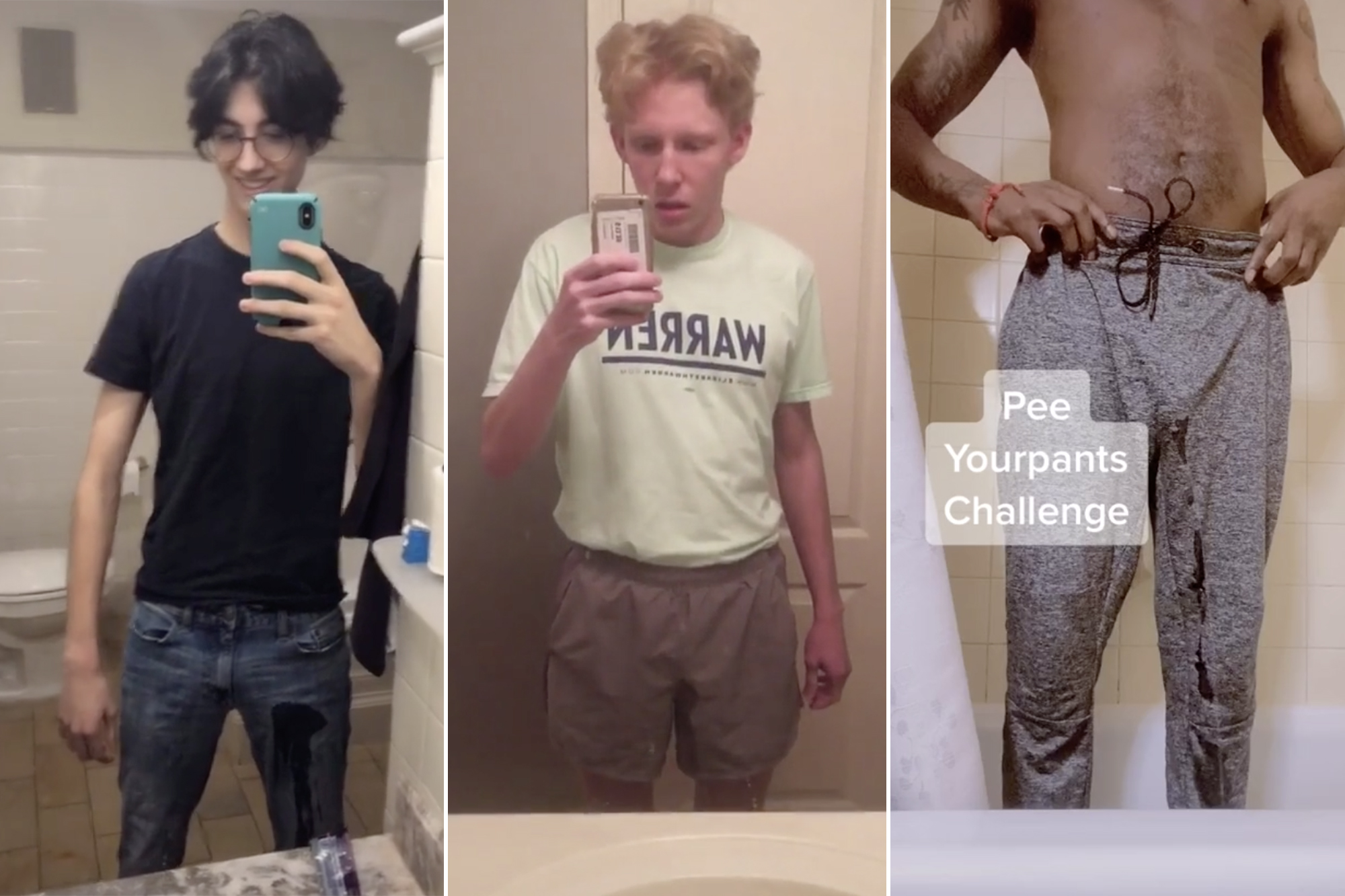 Men are peeing their pants on TikTok because what else is going on in 2020