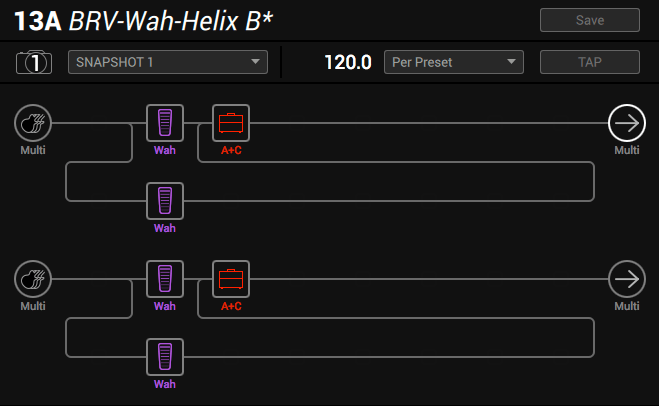 Line 6 Helix parallel wah method 5