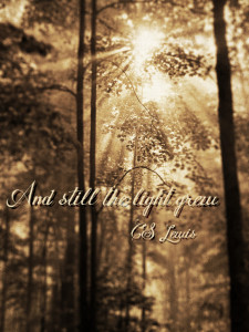 And still the light grew