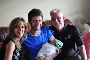 My parents and I welcome little Marlé into the world!