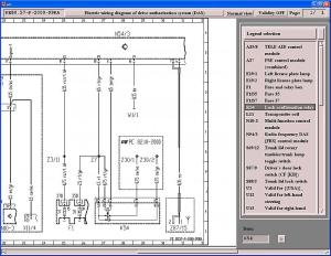 Wiring Diagram of Passenger Footwell Control Units Area