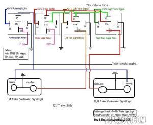 24v truck with 12v trailer  wiring diagram  Mercedes