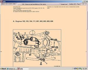 where is my solenoid and starter motor located  MercedesBenz Forum