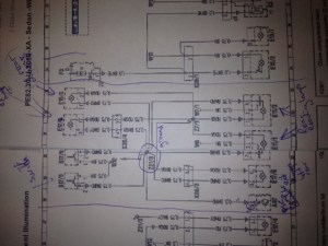 Anyone have wiring diagrams for the rear dome lights  door lights (courtesy lights)?  Mercedes