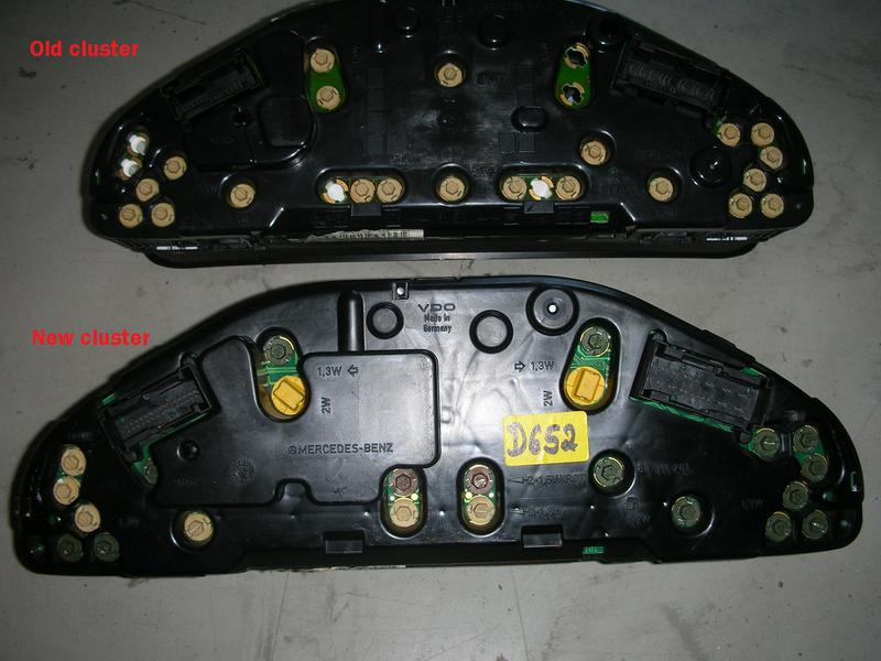 W210 Instrument Cluster Upgrade Wiring Diagrams