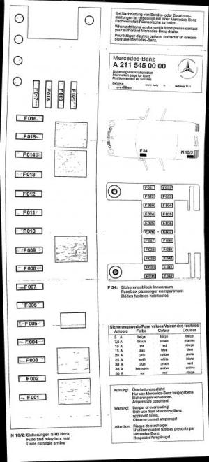 2004 Mercedes Benz E320 Fuse Box Diagram | Online Wiring