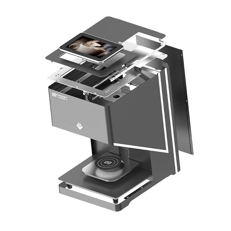 3d coffee printer explosive view