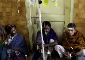 in India, in ospedale