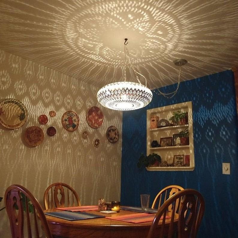 Moroccan lamp\u00a0 Copper Handmade Engraved Moroccan Lamp Pendant Light Brass Antique Vintage New Home Decor Lighting