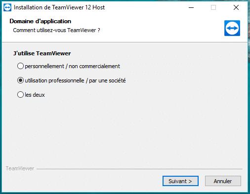 TeamViewer, étape 2