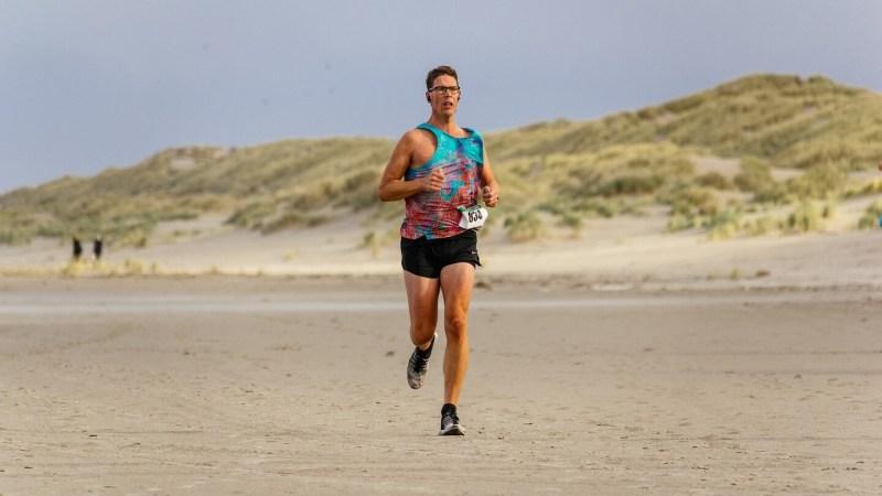 Maarten van Vulpen tijdens de halve marathon van de Berenloop 2017.