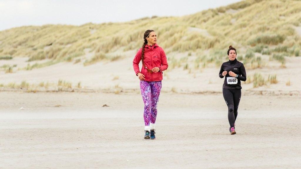 Marieke Schnoing-Gels tijdens de halve marathon van de Berenloop 2017.