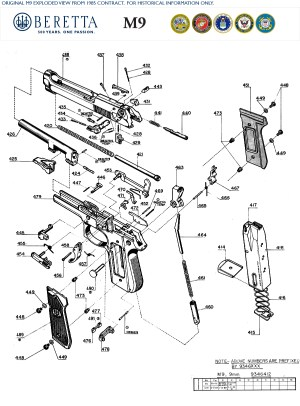 Beretta M9 Exploded View