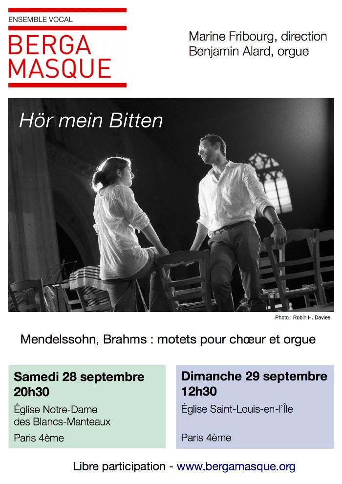 Affiche Bergamasque samedi 28 dimanche 29 septembre