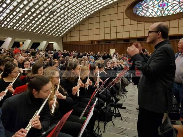 musicisti dal papa