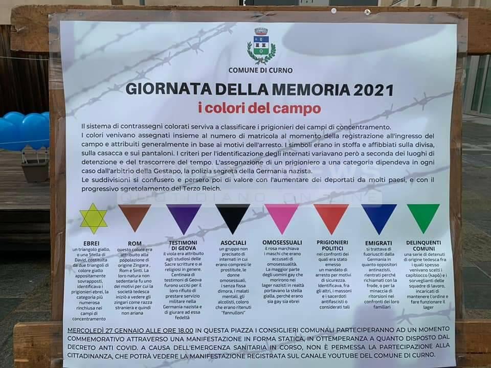 """Curno ricorda i triangoli d'odio: """"i colori del campo"""" diventano palloncini - BergamoNews"""